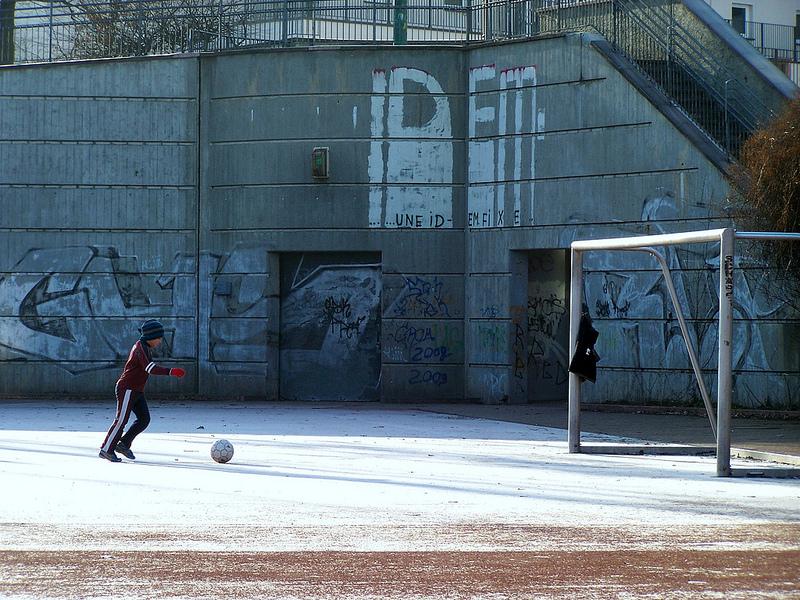 Voetbalveld Kreuzveld Berlijn