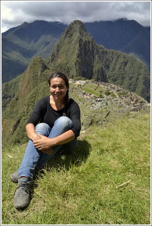 Picknick op de terrassen boven Machu Picchu