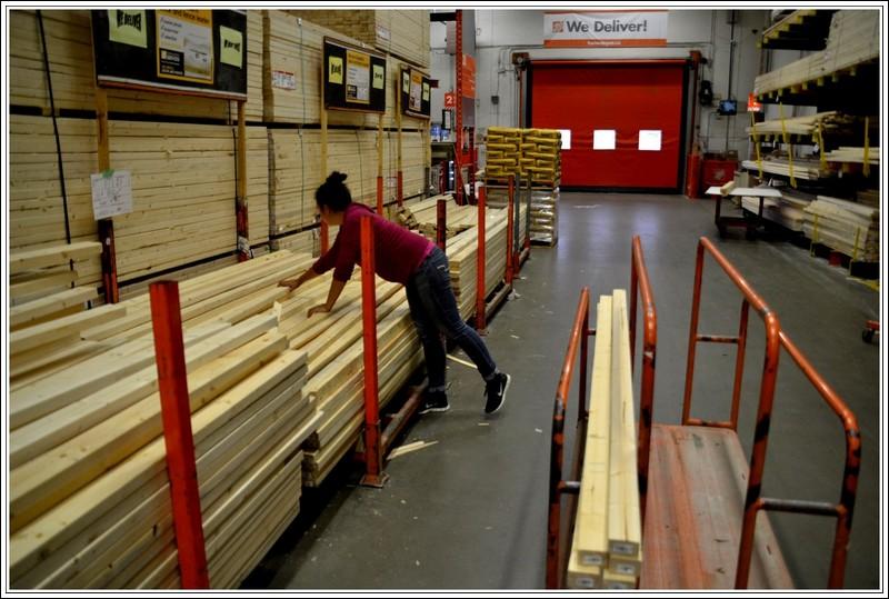 We zochten de meest rechte en knoestloze planken uit