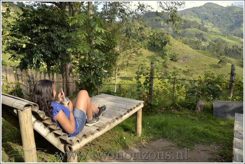 Uitzicht vanaf het kampeergedeelte van La Casona